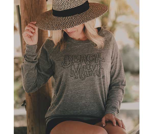 Beach Mama- L/S Slouchy Pullover
