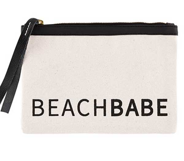 Beach Babe Canvas Pouch