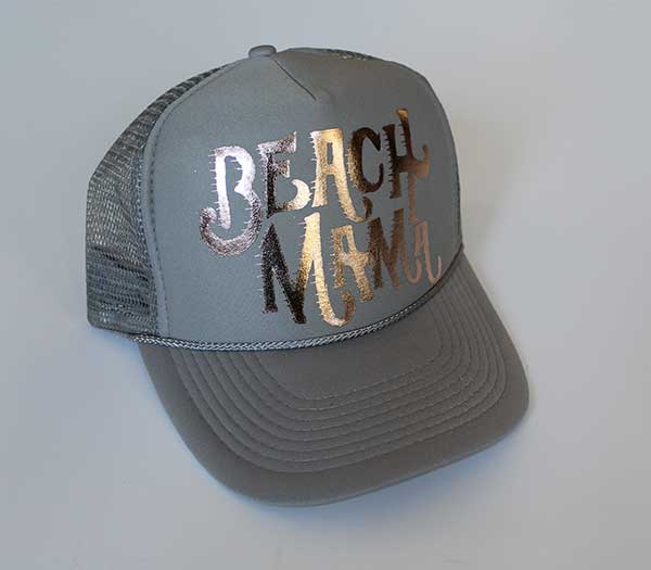 Beach Mama Rose Gold Trucker Hat