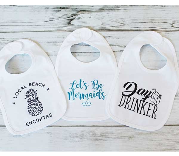Baby Girls Bibs - Set of 3
