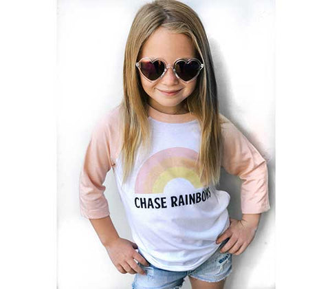 Chase Rainbows Girls & Toddler Baseball Tee