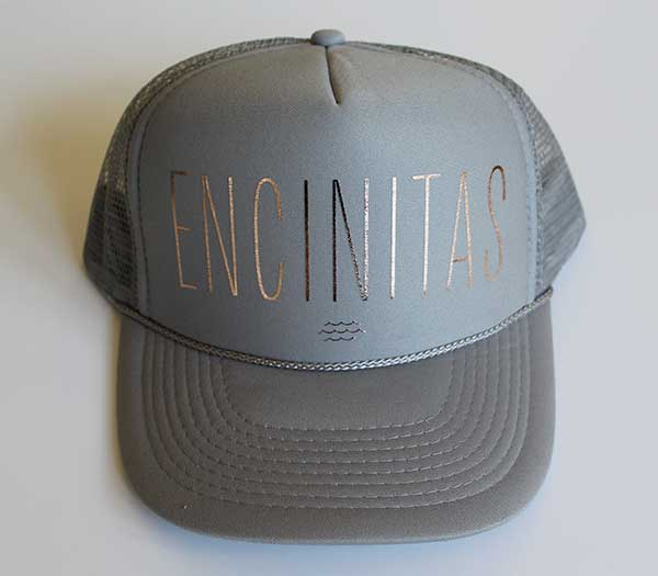 Encinitas Rose Gold Trucker Hat