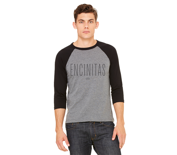 Encinitas - Mens 3/4 Sleeve Baseball Tee