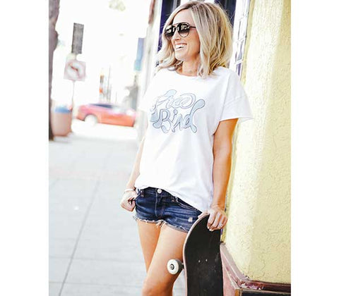 Free Bird White Favorite Tee
