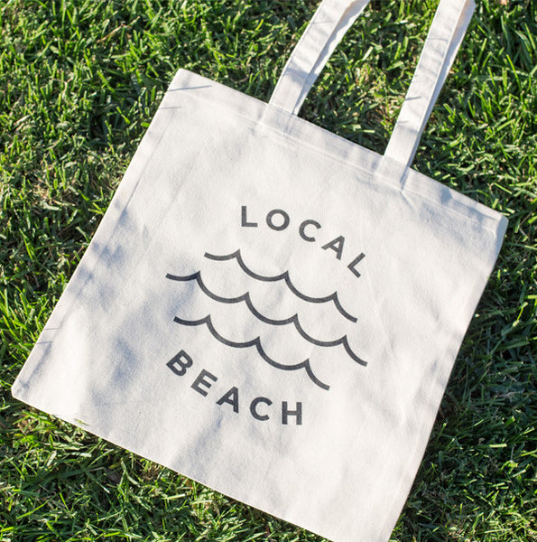 Local Beach Canvas Tote