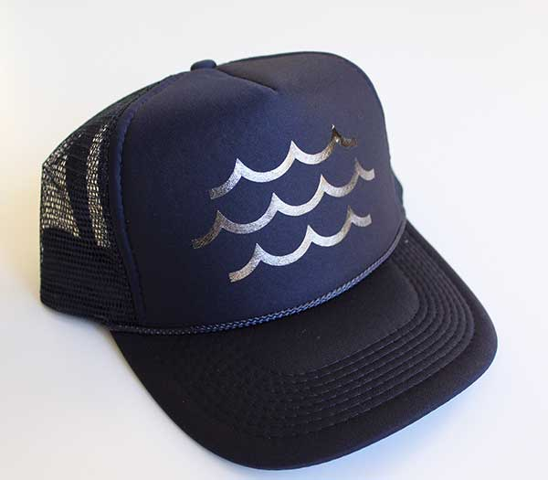 Waves Navy Trucker Hat