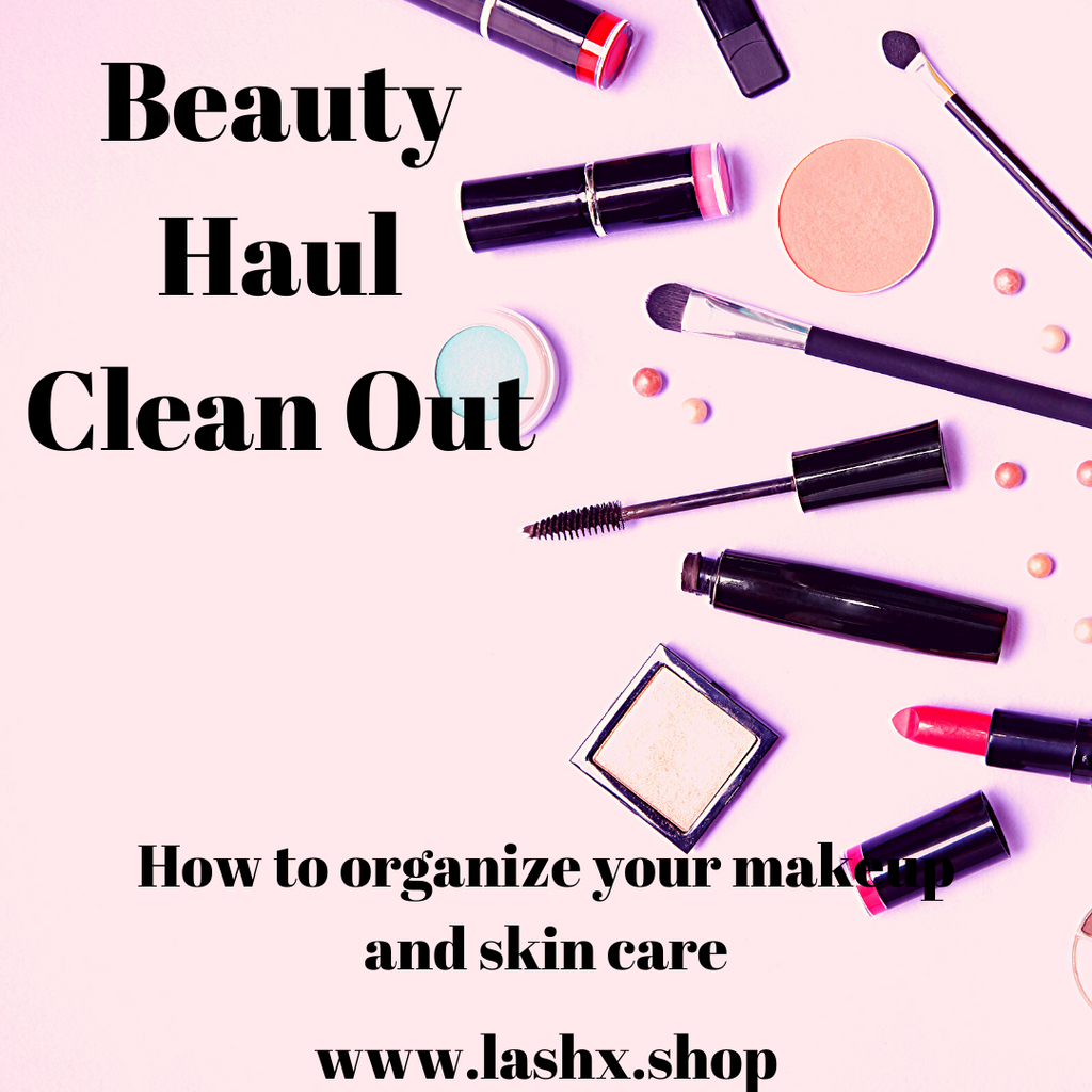 how to clean out your beauty stash