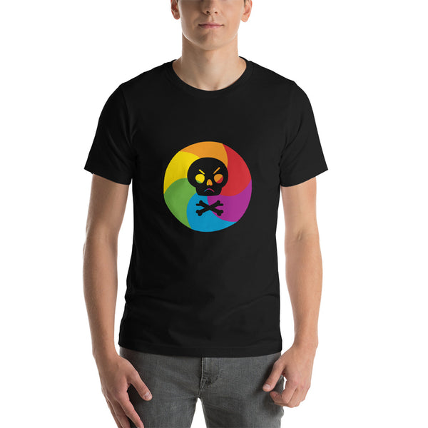 Rainbow Wheel of Death | Short-Sleeve Unisex T-Shirt