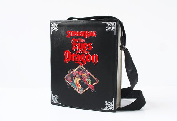 The Eyes of the Dragon Leather Book Purse