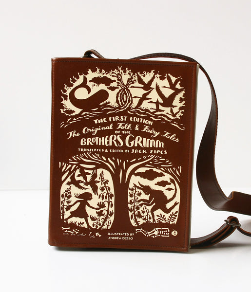 Brothers Grimm's Fairytales Leather Book Purse