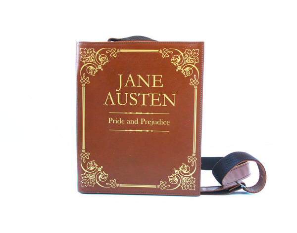 Jane Austen Leather Book Purse