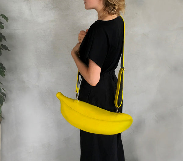 Banana Purse Yellow Felt Banana Bag