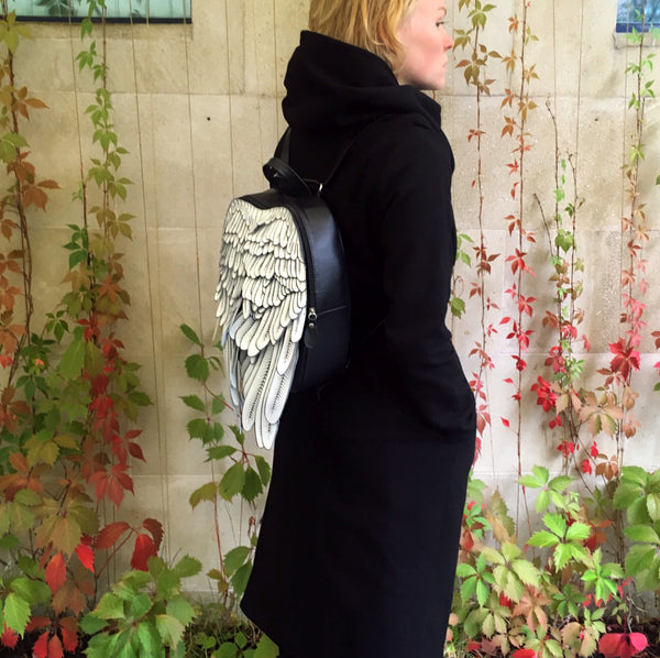White Angel Wings Backpack Angels Wing Bag