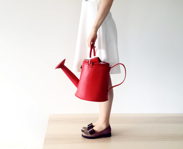 Watering Can Bag Watering Pot Bag Garden Bright Red Felt Bag