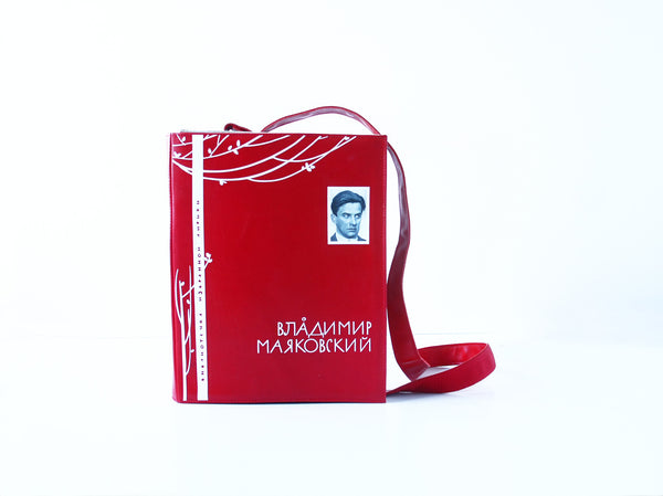 Vladimir Mayakovsky's Poetry Leather Book Purse