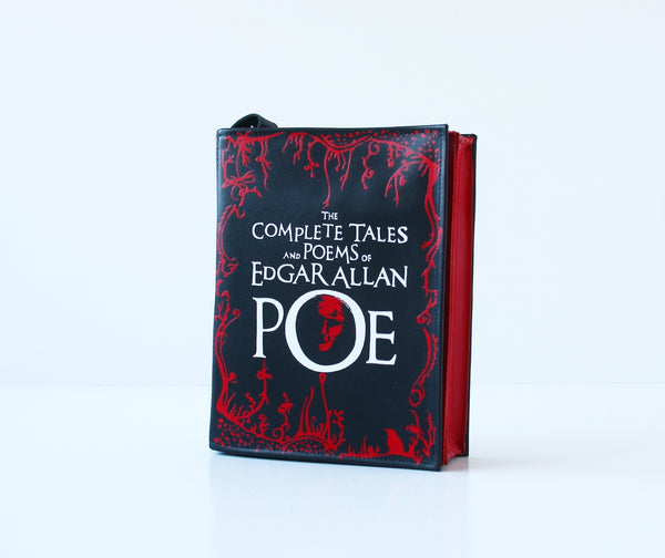 Edgar Poe Leather Book Purse