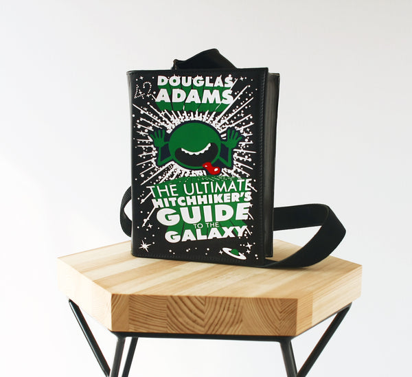 The Hitchhiker's Guide to the Galaxy Leather Book Purse