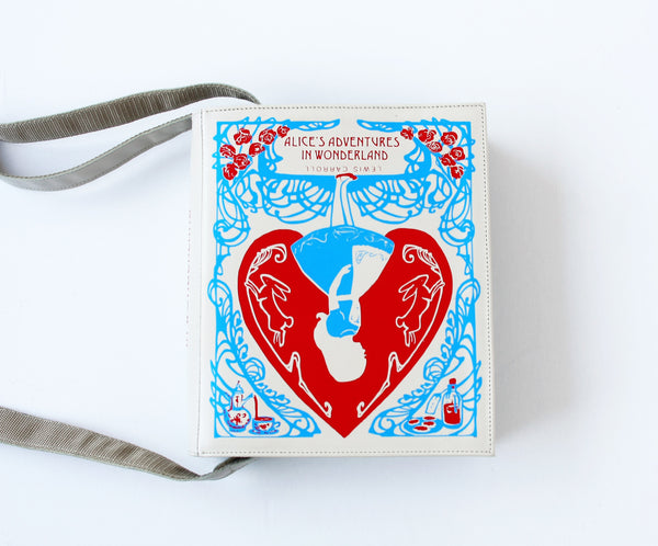 Alice in Wonderland Leather Book Purse