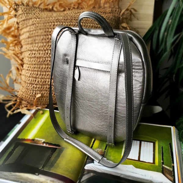 Silver Angel Wings Backpack Silver Leather Backpack Silver Angels Wing Backpack