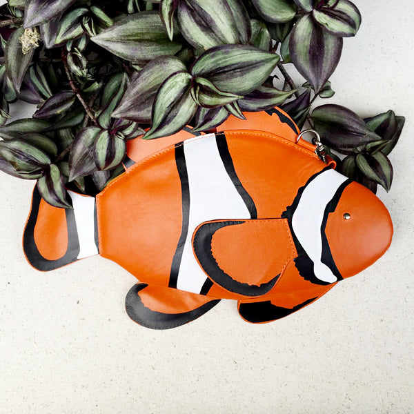 Clown Fish Purse Fish Felt Bag
