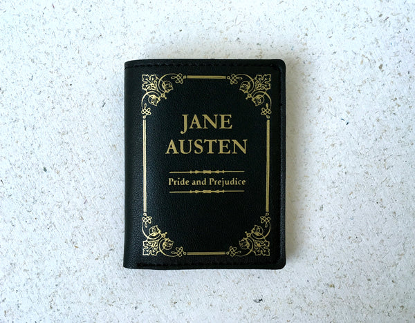Jane Austen Book Wallet Pride and Pejudice Book Cover Wallet Leather Wallet