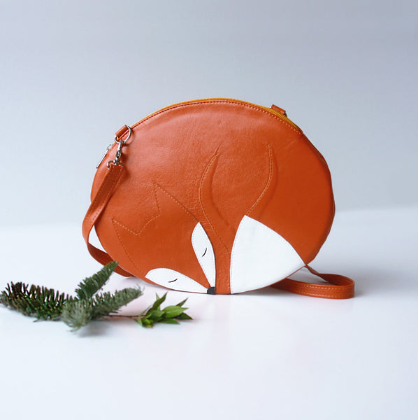 Sleeping Fox Bag Fox Purse