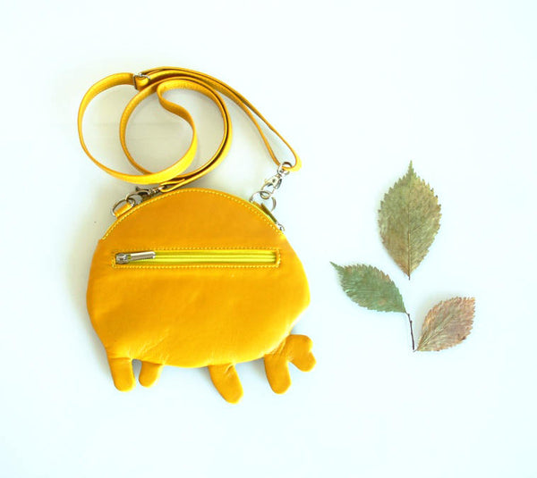 Tree Trunks Leather Purse Tree Trunks Pouch