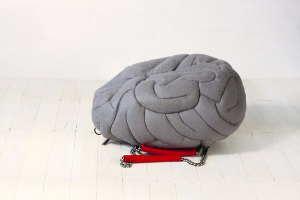 Geek Bag Brain Shaped Felt Bag