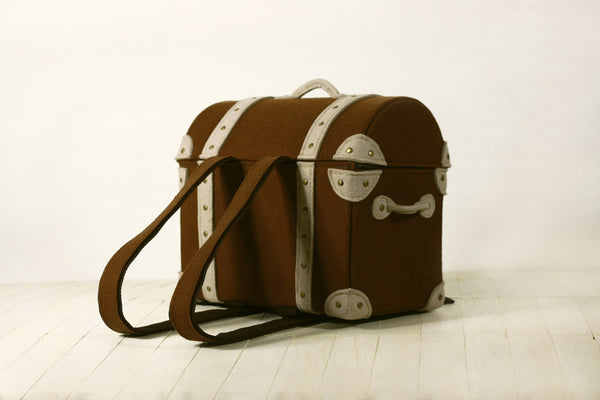 Felt Dower Chest Bag Felt Backpack