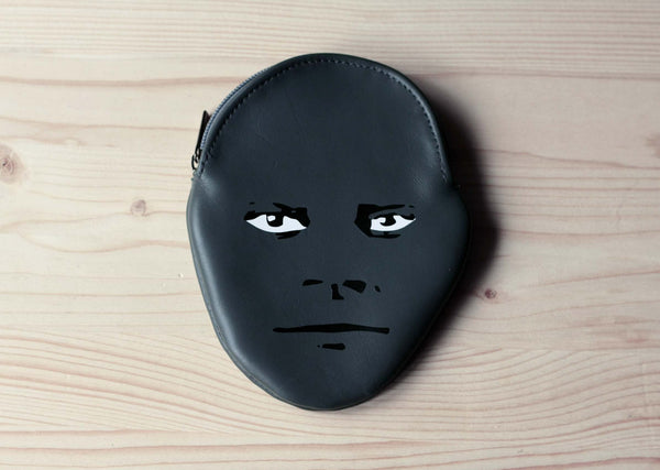 Fantomas Face Leather Pouch