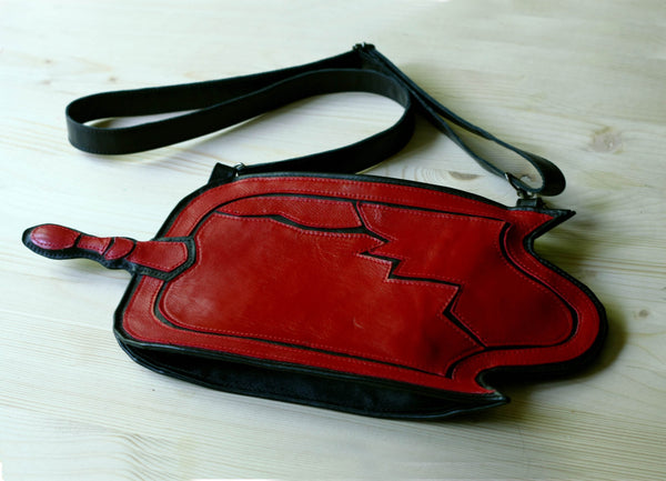 Broken Mirror Leather Purse World of Darkness Leather Bag