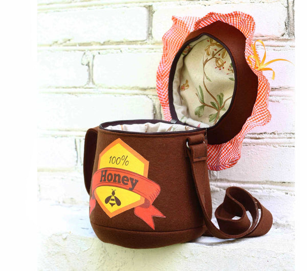 Honey Pot Purse Felt Bag