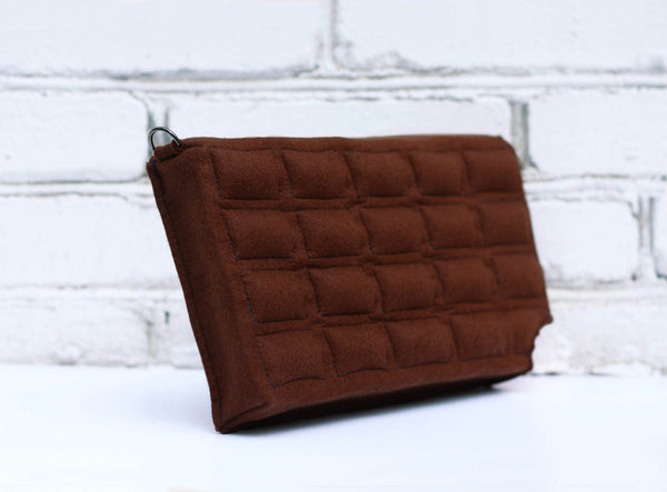 Chocolate Bar Felt Bag