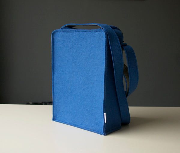 PO Box Bag Postman Blue Felt Purse