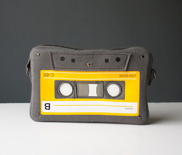 Compact Cassette Felt Bag Music Lover Purse