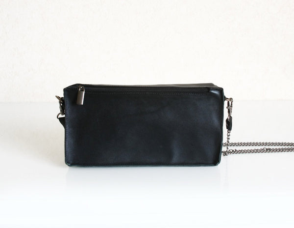 Domino  Tile Bag Black Leather Purse
