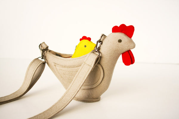 Chicken Purse Small Felt Children Bag