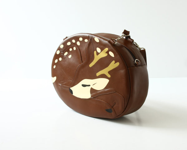 Sleeping Deer Handbag Reindeer Purse