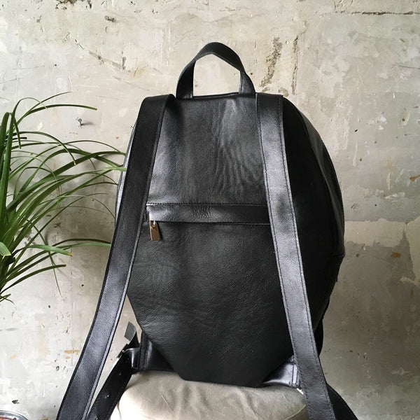 Wing Backpack Black Leather Wings Backpack Leather Angel's Wings Backpack