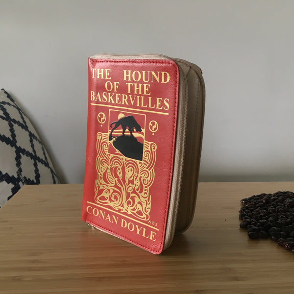 Arthur Conan Doyle Book Cover Wallet Women Wallet The Hound of the Baskervilles Book Cover Leather Wallet