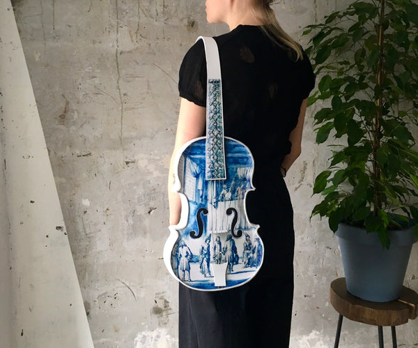 Delft Violin Backpack Unique Bag Rijksmuseum Delft Violin Bag Gift Music Gift