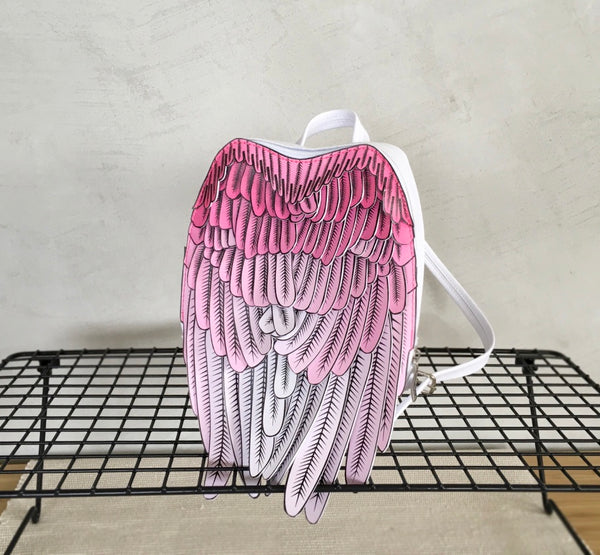 Kids Angel Wings Backpack Wing Backpack Pink Leather Wings Backpack