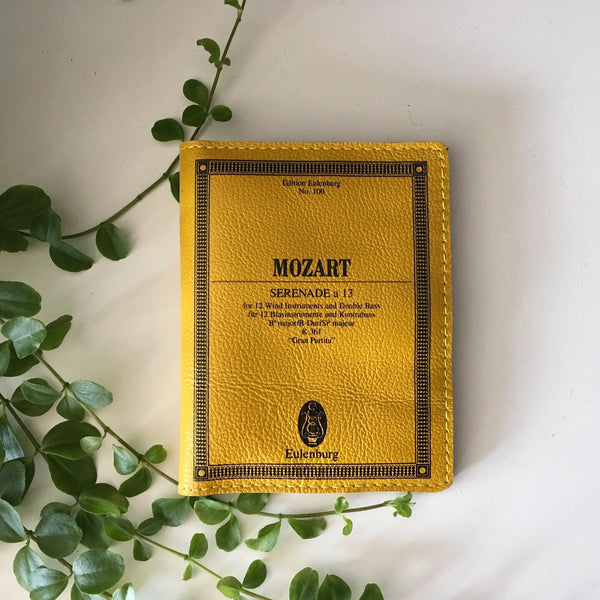 Mozart Wallet Mozart Serenade a 13 Book Cover Wallet Women Wallet Small Yellow Wallet