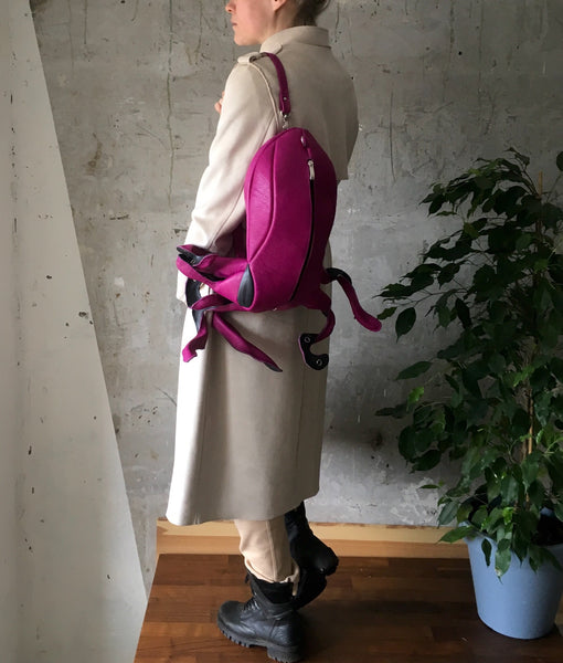 Pink Octopus Bag Sea Monster Octopus Backpack Squid Bag Octopus Bag