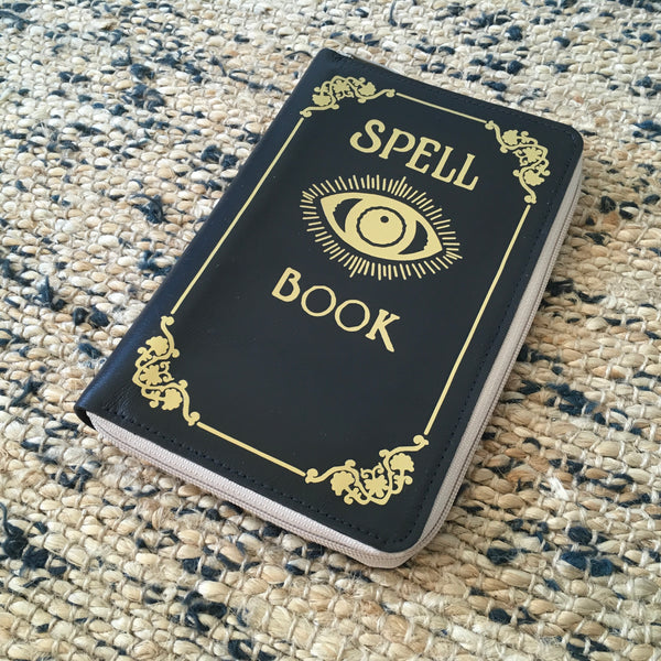 Spell Book Woman Wallet Zipper Leather Spell Book Wallet Book Cover Leather Wallet