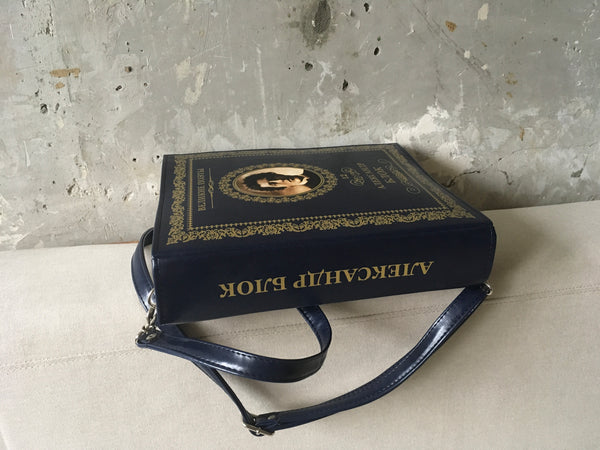 Alexander Blok Book Purse Russian Poetry Book Leather Bag Alexander Blok Book Clutch