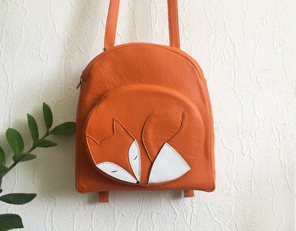 Sleeping Fox Leather Backpack
