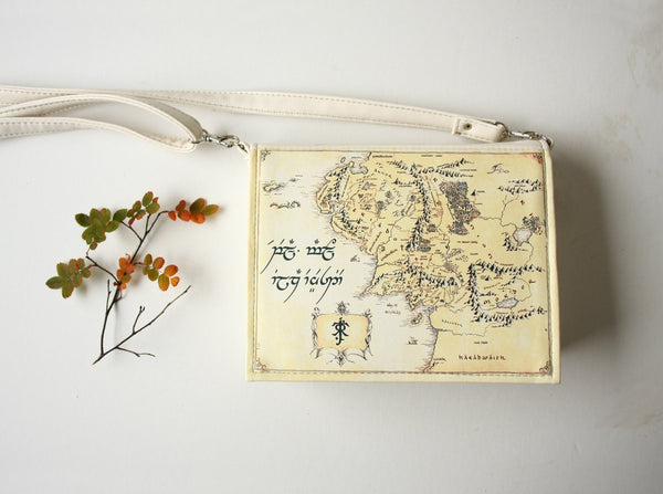 Map of Middle Earth Book Bag