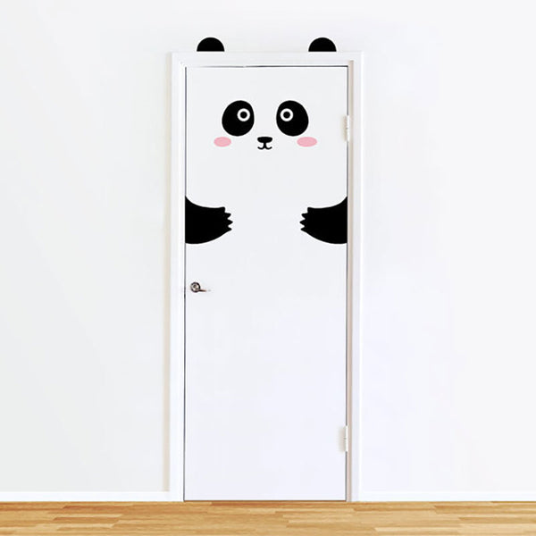 Cartoon Cute Animal Door Decals - My Urban One