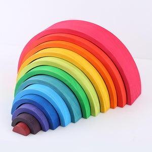 Rainbow Wooden Blocks - My Urban One